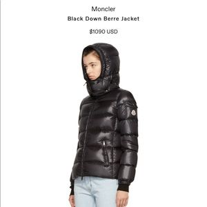 NEW & AUTH. MONCLER Berre Gloss Puffer Jacket SZ 3
